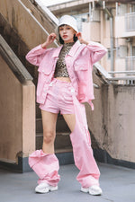 UTILITY NYLON 2WAY PANTS / PINK
