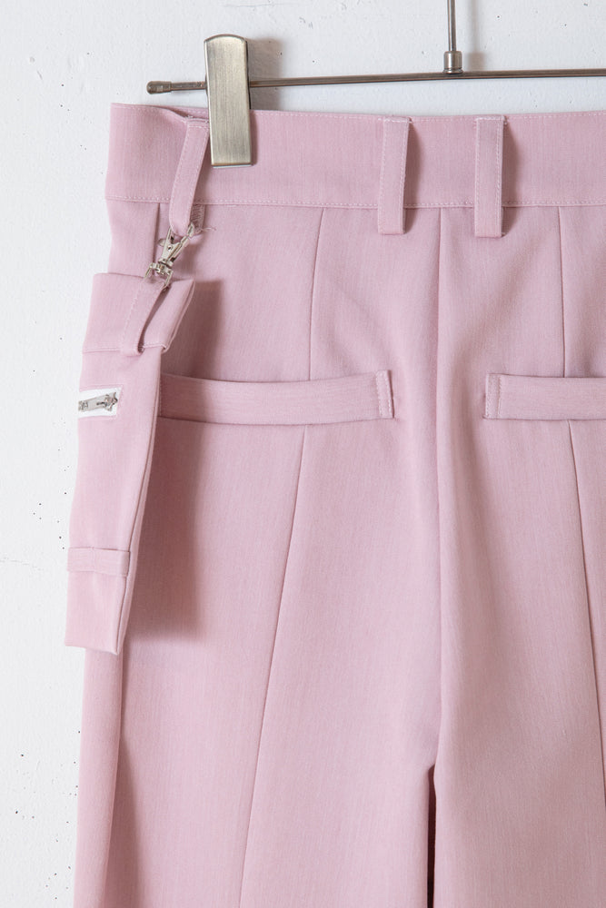 BACK SLIT POCHETTE PANTS / PINK