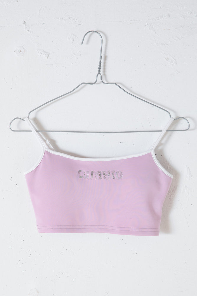 KIRAKIRA LOGO BRA TOP / PURPLE