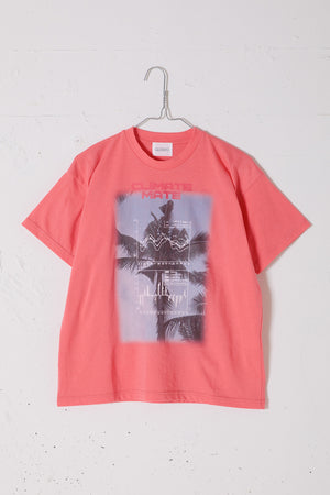 CLIMATE PHOTO PRINT TEE / NEON RED