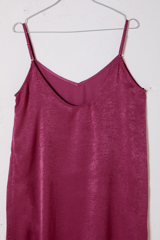 SLITSLIP DRESS / PURPLE