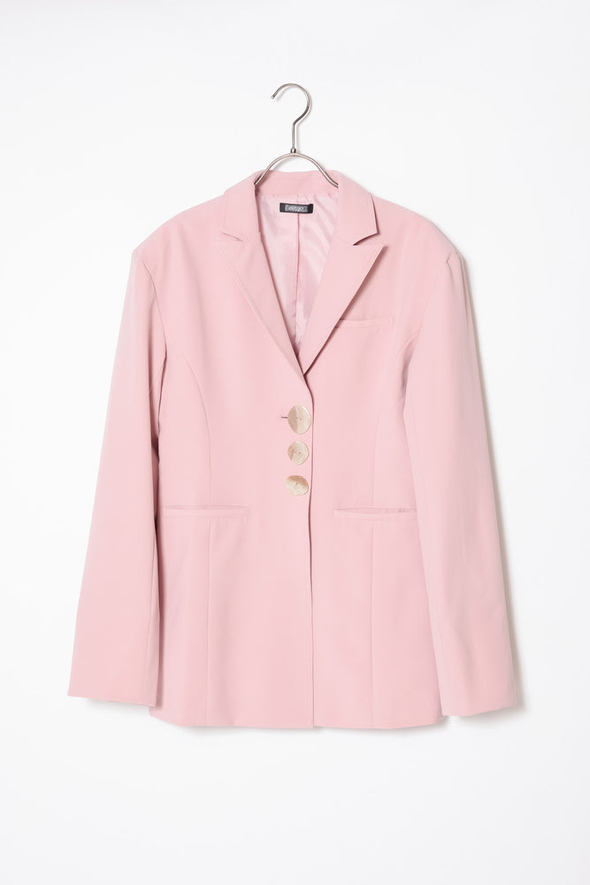 TRIPLE BUTTON JACKET / PINK