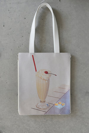 MILKSHAKE PRINT 2WAY TOTE BAG / WHITE