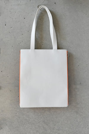 MILKSHAKE PRINT 2WAY TOTE BAG / ORANGE