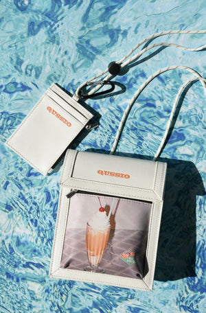 MILKSHAKE PRINT MINI BAG / ORANGE