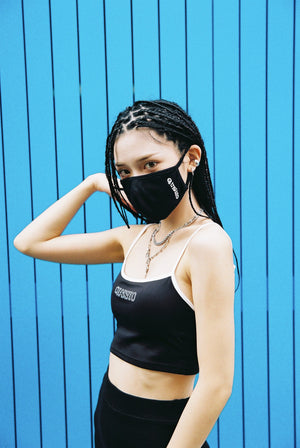 "RIB ""LOO-GY"" LEGGINGS &MASK / BLACK"
