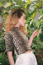 ANIMAL LOGO FRONT TOP / LEOPARD
