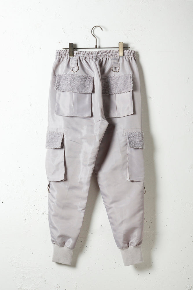 BOA POCKET NYLON PANTS / SILVER