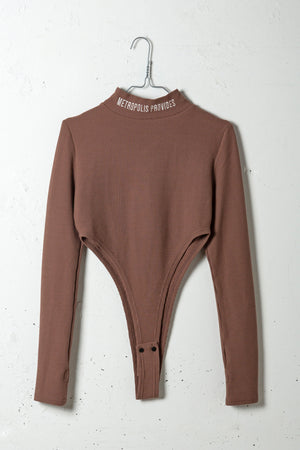 HIGH LEG BODY SUITS / BROWN