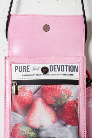 FRUIT PRINT MINI BAG / PINK