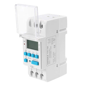 Digital Programmable Timer Switch,Electrical Timer Switch 15A 12 Volt DC/AC LCD Display (AC/DC 12V)