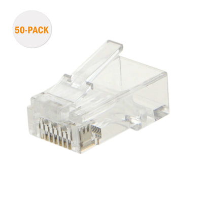 RJ45 Connector Straight Cable Mount Unshielded Male