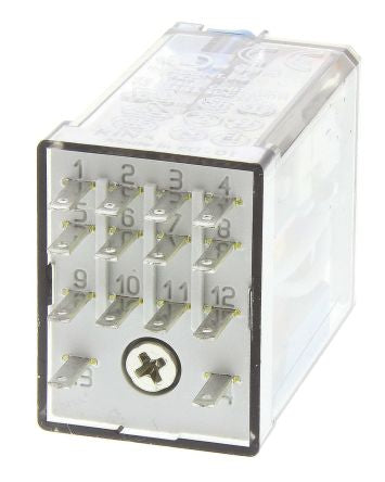Finder 4PDT Non-Latching Relay Plug In, 24V dc Coil, 7 A