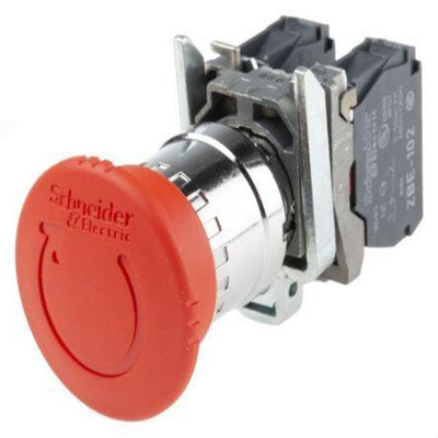 Schneider Electric Harmony, Red, Turn to Release 40mm Mushroom Head Emergency Button