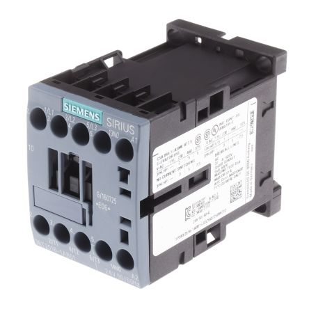 Siemens Sirius Innovation 3RT2016-1AP01 3 Pole Contactor, 3NO, 9 A, 4 kW, 240 V ac Coil