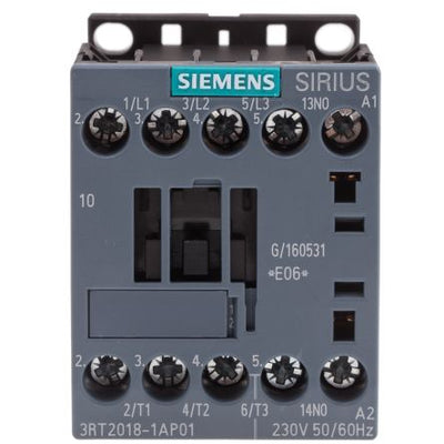 Siemens Sirius Innovation 3RT2018-AP01 3 Pole Contactor, 3NO, 16 A, 7.5 kW, 230 V ac Coil
