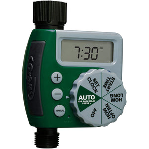 Garden Timer Orbit 62061Z 1-Outlet Programmable Hose Faucet Timer, Green ( Water Timer for Garden )