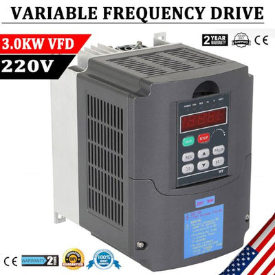 VFD Inverter Variable Frequency Drive 220V 3KW 4HP for Motor Speed Control (3KW)