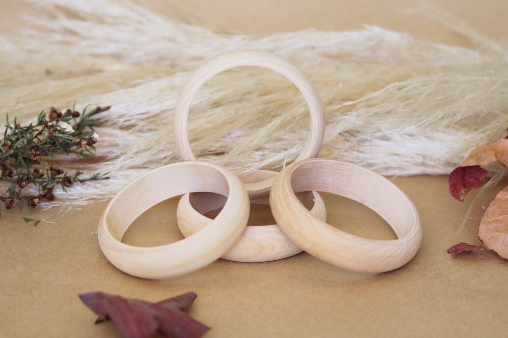 Wooden Bangle Set (4)