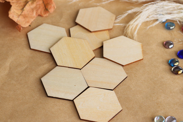 Wooden Hexagon shapes
