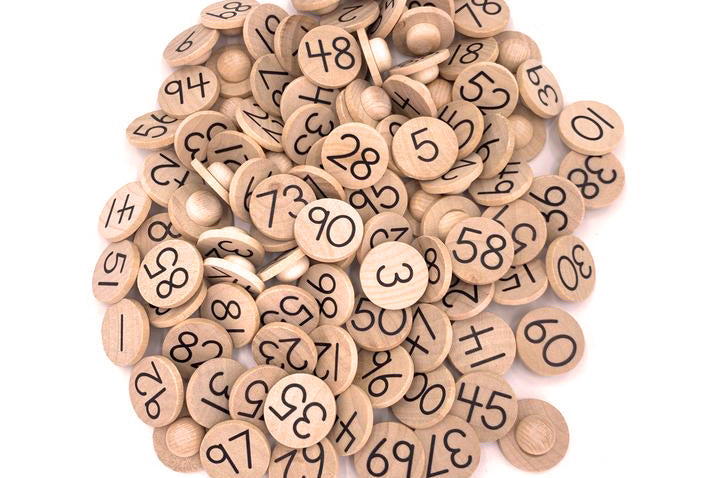 1 - 100 Number Coins