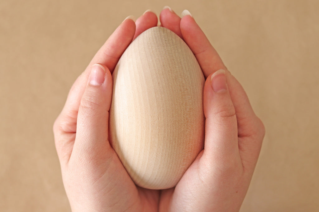 Wooden Jumbo Egg - DIY