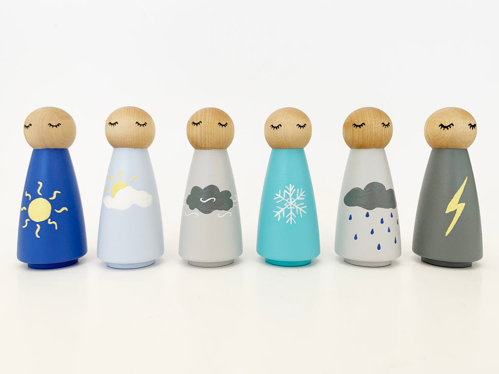 Weather Jumbo Peg Dolls