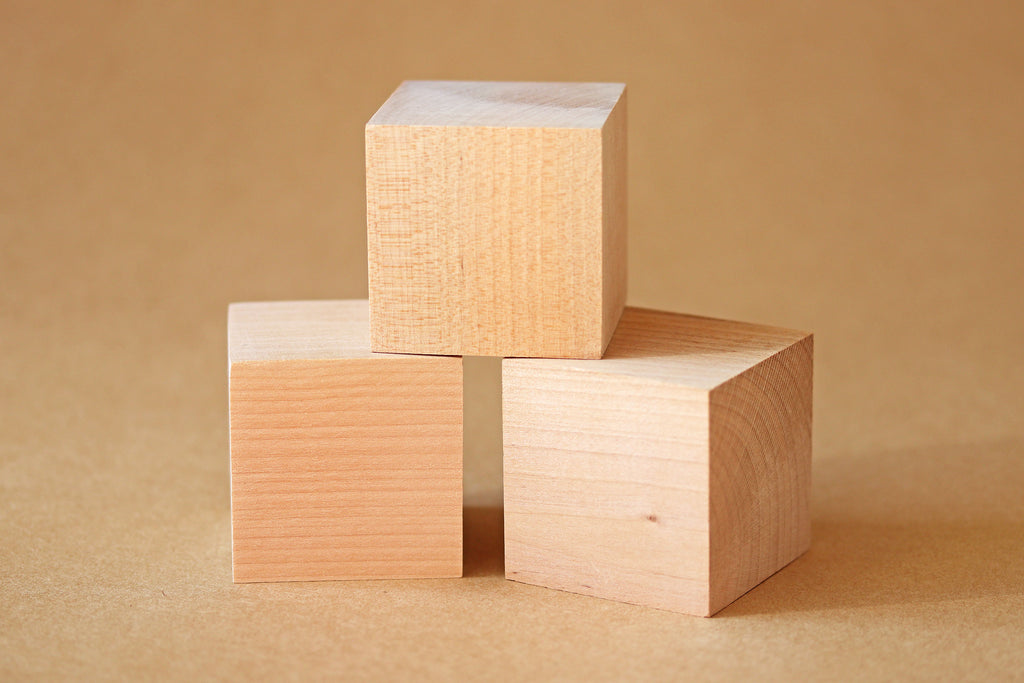 Hardwood Wood Block 5cm - DIY