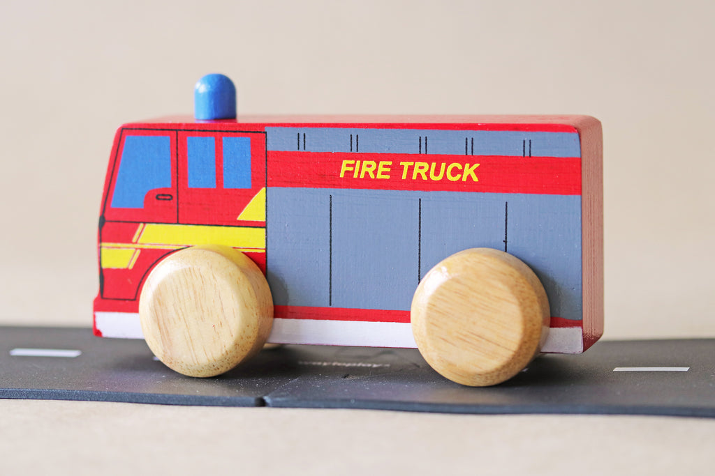 Wooden Emergency Service Vehicles