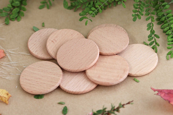 Wooden Coins Set