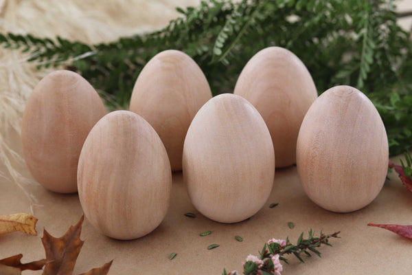 Wooden Eggs - Half a Dozen (6)