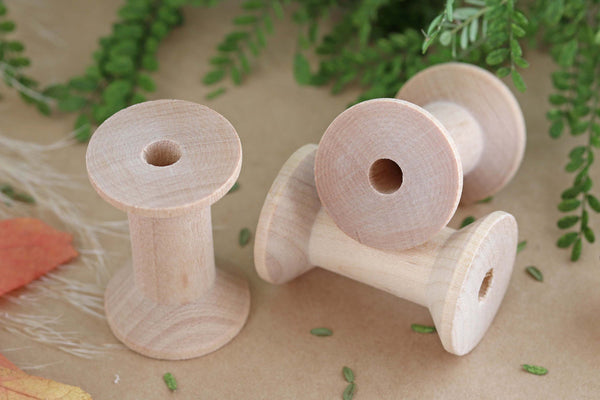 Wood Spool Set - 5cm Long