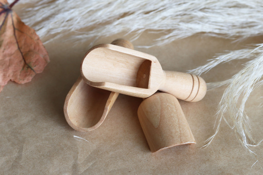 Wooden Scoops - small - Set of 3