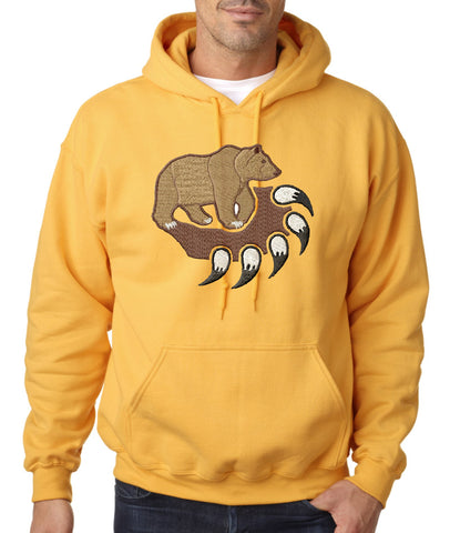 Embroidered Bear Claw Hoodie
