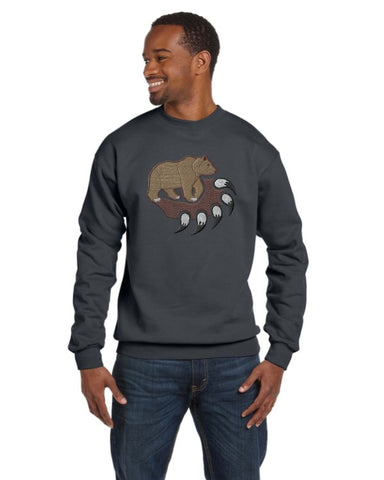 Embroidered Bear Claw Crew Neck