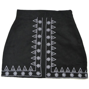 Embroidery Sexy Short Skirt - Sheaim