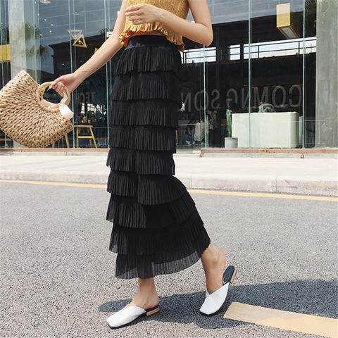 Fashion New Half-Length Chiffon Cake Skirt - Sheaim