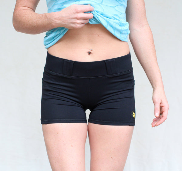 Women's Vakandi Compression Carry Shorts - Black