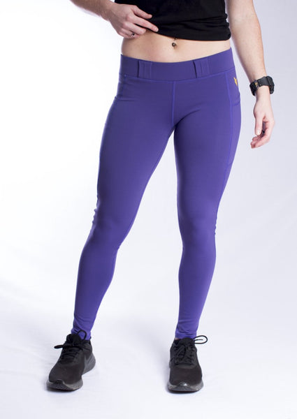 Women's Lycra/Supplex Blend EDC Leggings - Purple