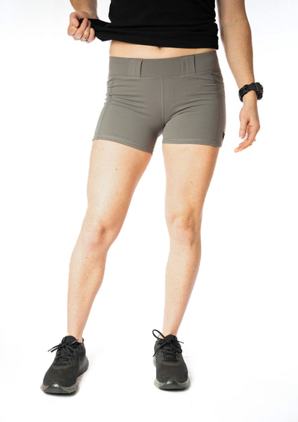 Women's Carry Compression Shorts - Gray