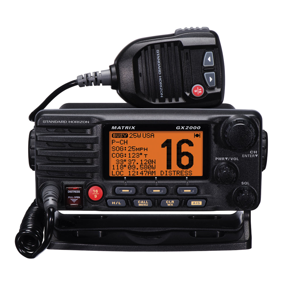 Standard Horizon Matrix GX2000 VHF w/Optional AIS Input 25W PA [GX2000B]