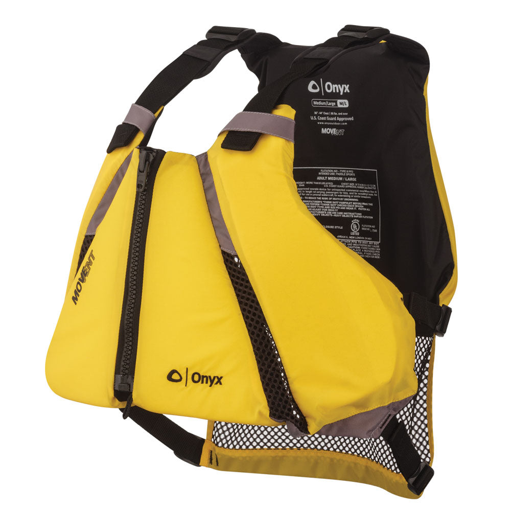 Onyx MoveVent Curve Paddle Sports Life Vest - XS/S [122000-300-020-14] | Catamaran Supply