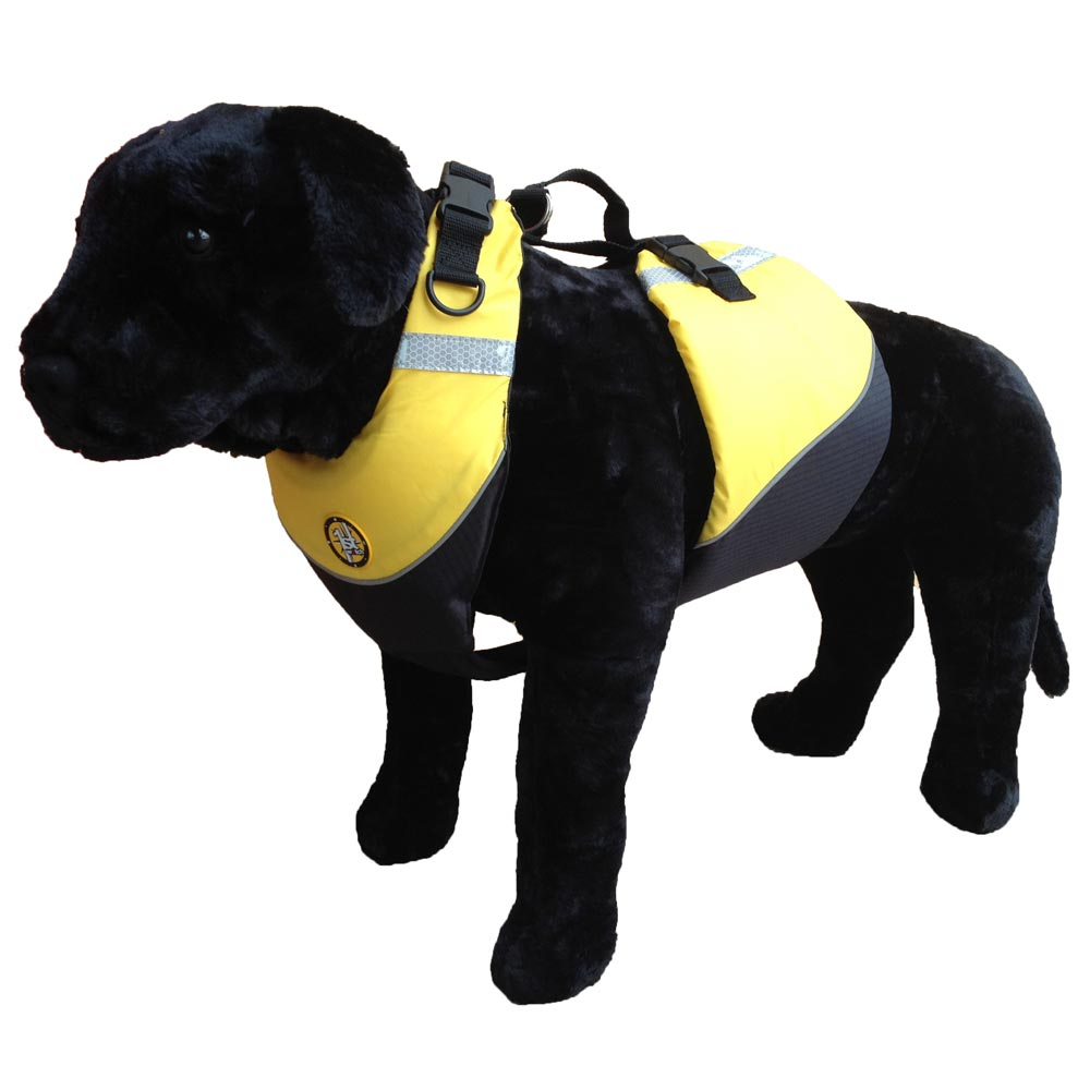First Watch Flotation Dog Vest - Hi-Visibility Yellow - Medium [AK-1000-HV-M] | Catamaran Supply