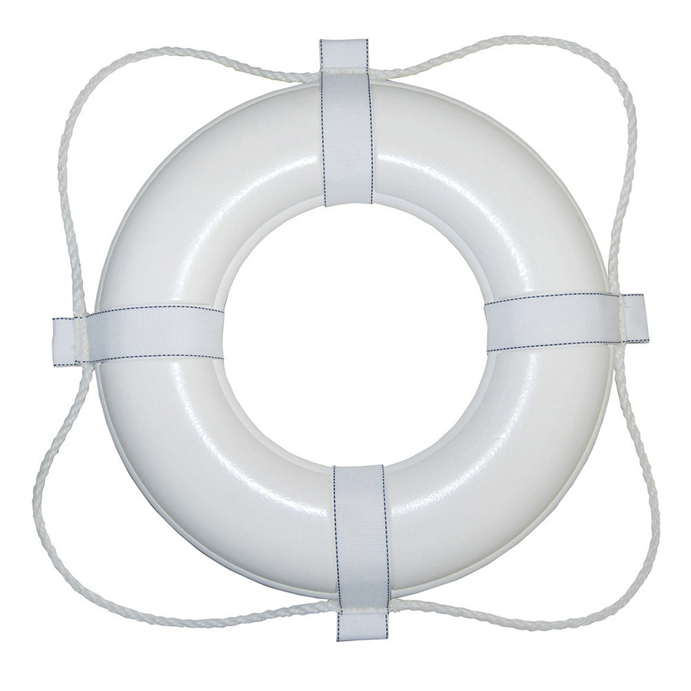 "Taylor Made Foam Ring Buoy - 24"" - White w/White Rope [361] 