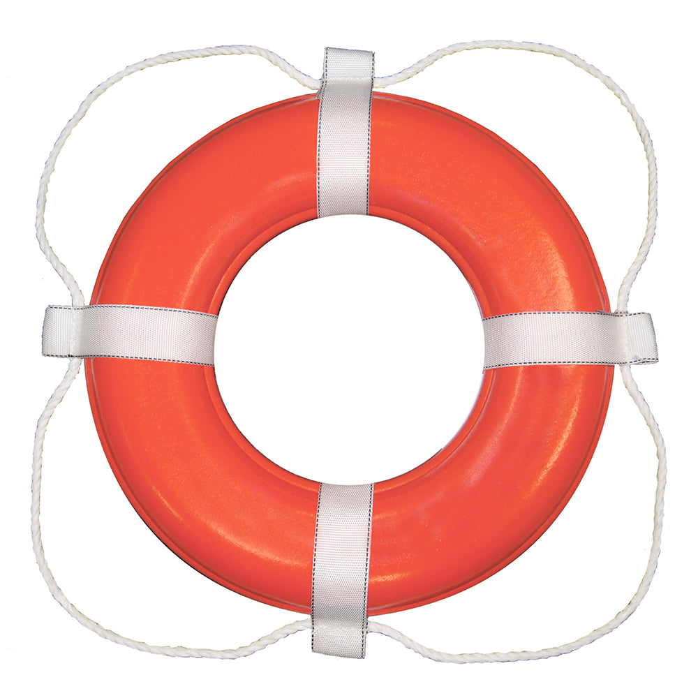 "Taylor Made Foam Ring Buoy - 30"" - Orange w/White Rope [383] 
