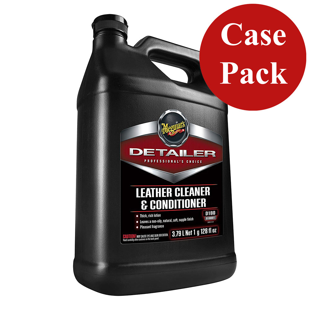 Meguiars Detailer Leather Cleaner  Conditioner - 1-Gallon *Case of 4* [D18001CASE]
