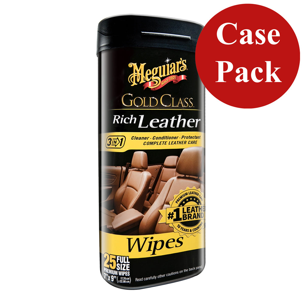 Meguiars Gold Class Rich Leather Cleaner  Conditioner Wipes *Case of 6* [G10900CASE]