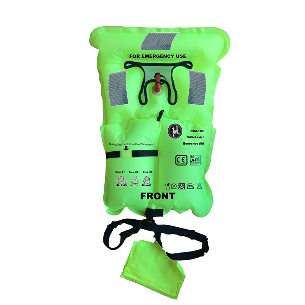 First Watch Micro Inflatable Emergency Vest - Hi-Vis Yellow [RBA-100] | Catamaran Supply