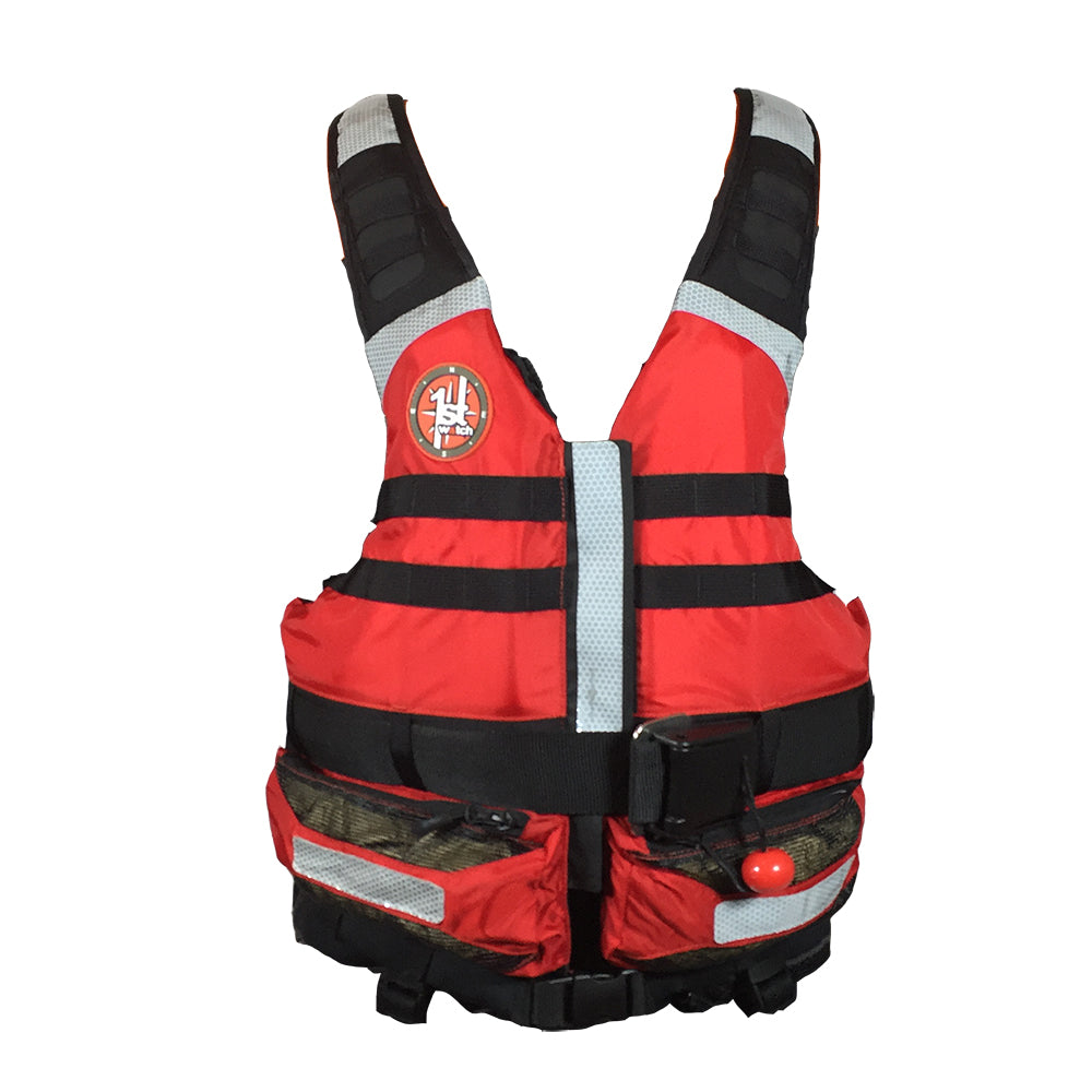 First Watch Rescue Swimming Vest - Red [SWV-100-RD-U] | Catamaran Supply