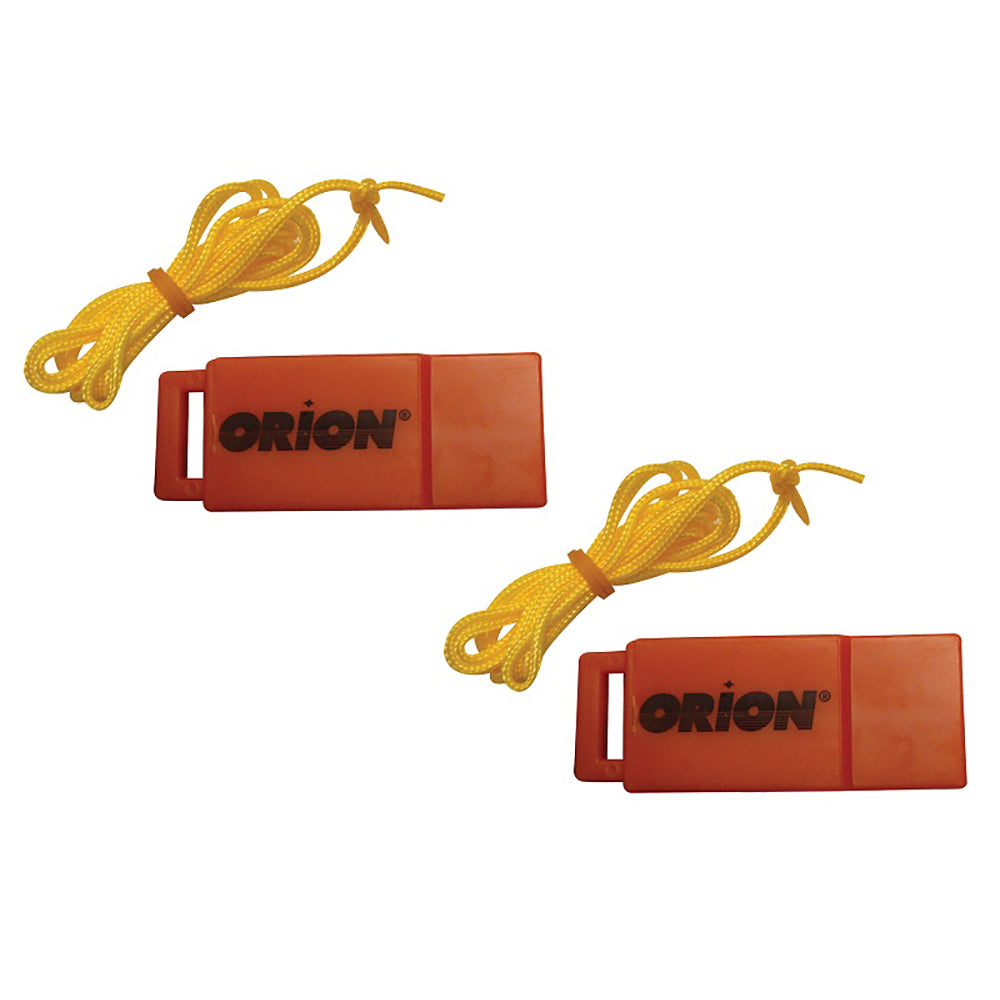 Orion Safety Whistle w/Lanyards - 2-Pack [676] | Catamaran Supply